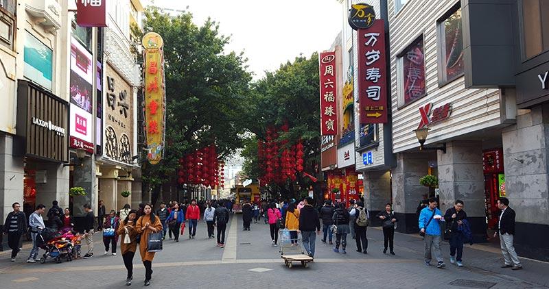 Beijing Lu in Guangzhou China
