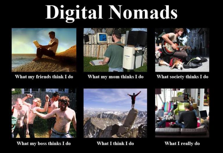 digital nomad meme