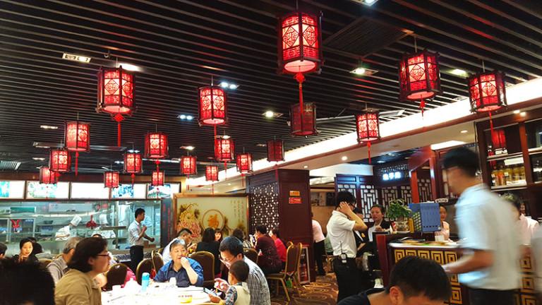 inside chinese restaurant in guangzhou