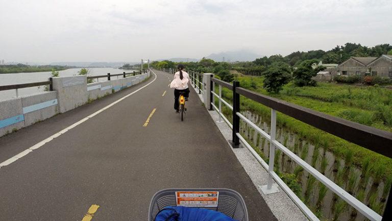 Bike riding to Tamsui Taipei