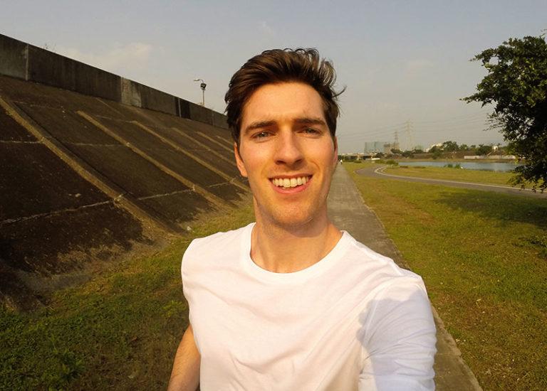 jogging near river in taipei