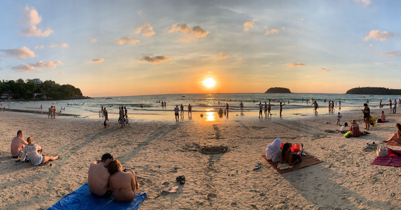 Karon Beach Sunset Phuket Thailand